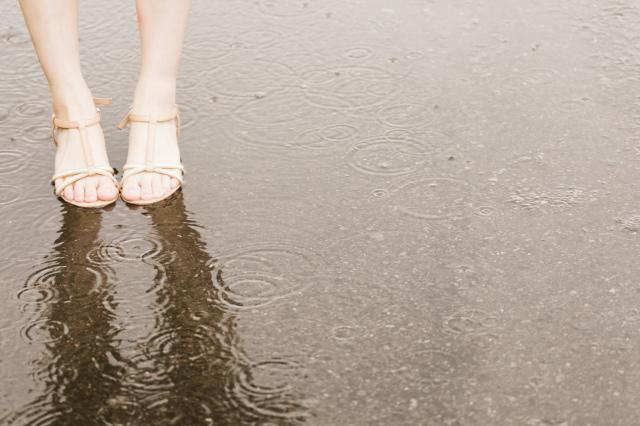 梅雨の膝の痛み